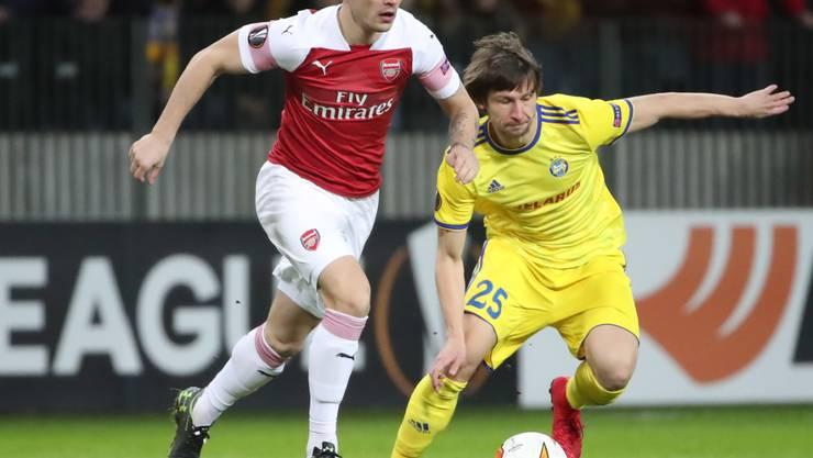 Granit Xhaka bereitete beim 3:0 von Arsenal gegen BATE Borissow zwei Treffer vor