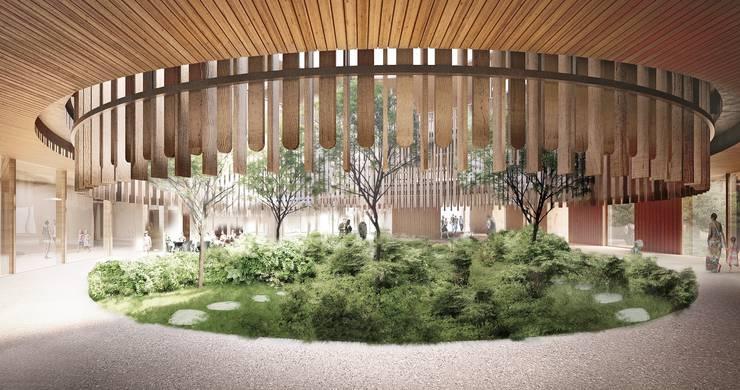Soll soll das neue Universitäts-Kinderspitals in Zürich Lengg einst aussehen: Der Vorhof.