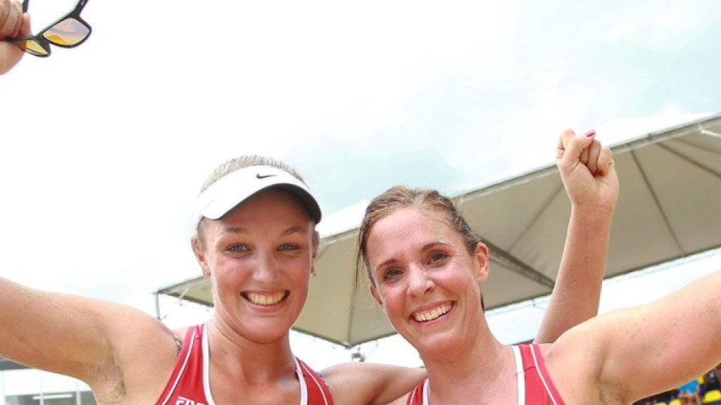 Trotz dem verpassten Podestplatz war es für Anouk Vergé-Dépré (links) und Isabelle Forrer eine erfolgreiche Woche an der Copacabana von Rio de Janeiro