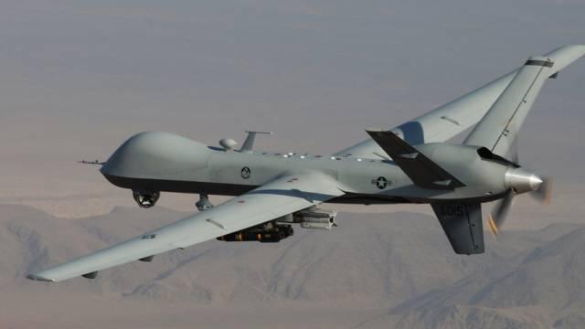 Ein Bild einer Drohne der US-Luftwaffe in Afghanistan (Archiv)