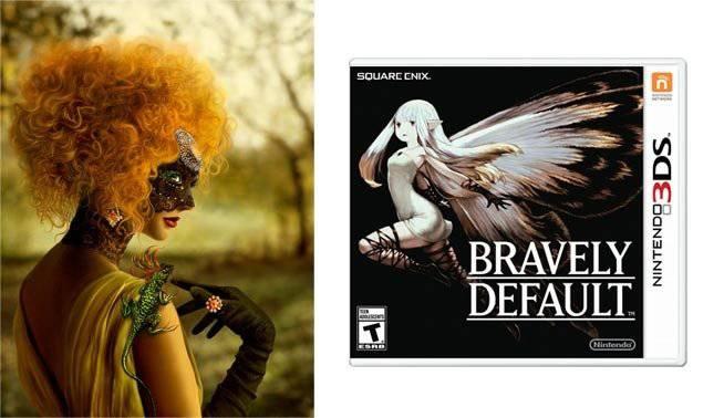 Links das Original von Katarina Sokolova, rechts das Cover des Nintendo-3DS-Spiels «Bravely Default»