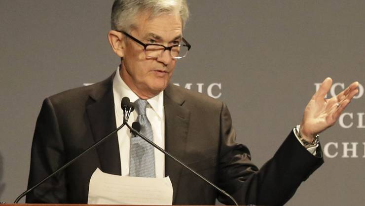 US-Notenbank-Chef Jerome Powell beim Chicagoer Wirtschaftsclub.