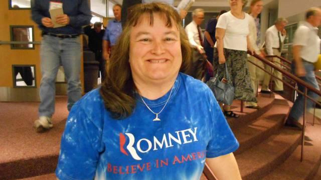 Pamela wählt Mitt Romney, weil Barack Obama für das Recht auf Abtreibung ist. / Benjamin Weinmann