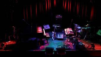Konzertbühne im Jazzklub Moods: Ab nächster Woche spielen hier regelmässig Zürcher Bands – fürs Online-Publikum zu Hause.