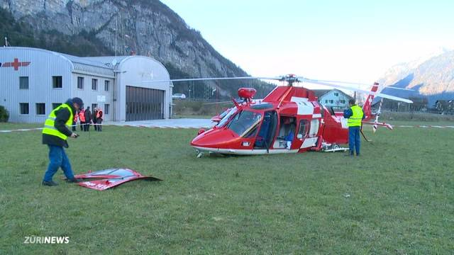 Drei Verletzte bei Helikopterunfall