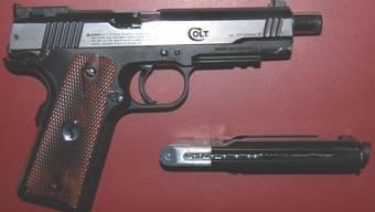 Die sichergestellte Waffe.