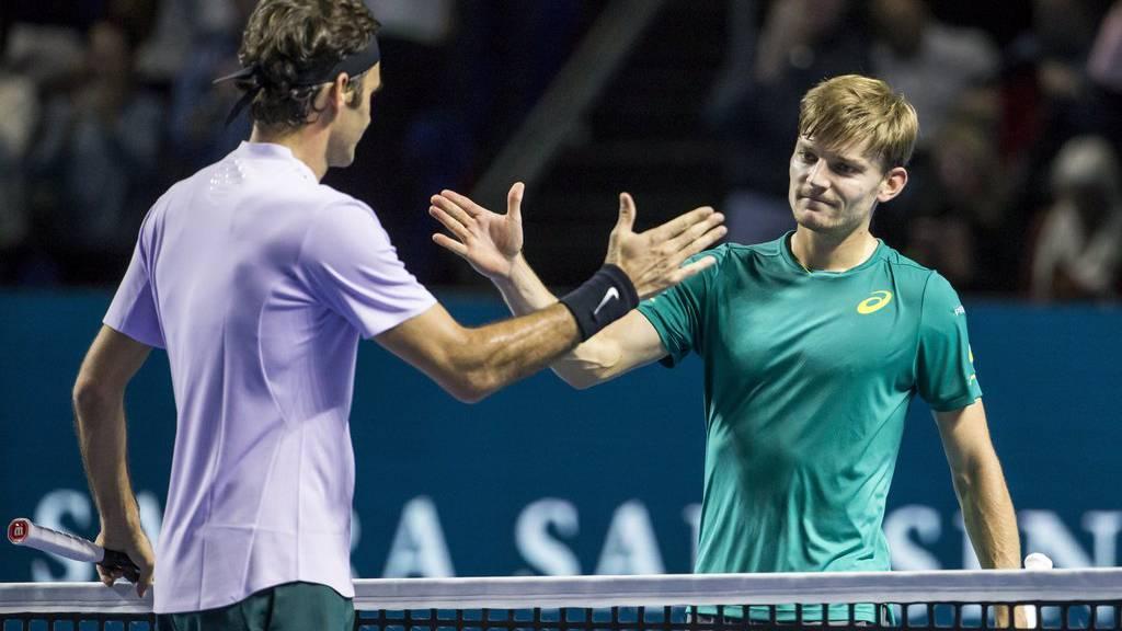 Roger Federer und David Goffin trafen Ende Oktober in Basel aufeinander. Roger dominierte das Spiel.