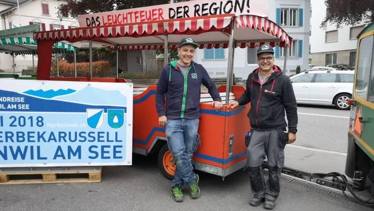 OK-Präsident Reto Grütter (links) und Michael Galli.
