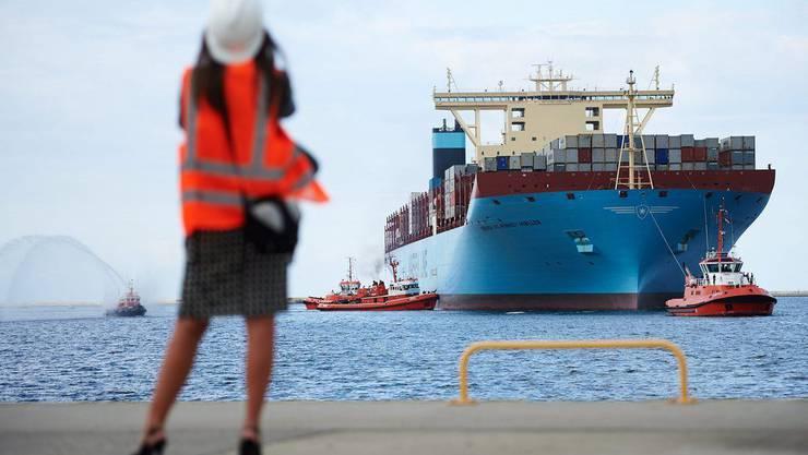Fast 400 Meter lang und hoch wie ein Bürohaus: Die «Maersk Mc-Kinney Møller».