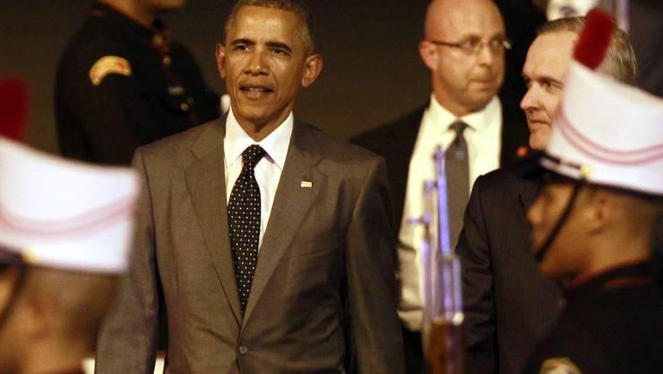 Barack Obama trifft zum Amerika-Gipfel in Panama ein.