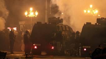 Unzufriedenheit in Mazedonien über Abkommen: In Skopje kam es am Sonntag bei Protesten zu zahlreichen Festnahmen.