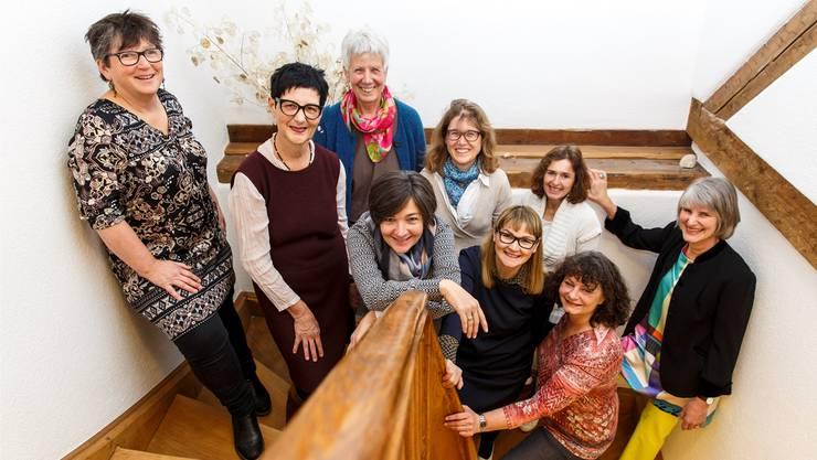 Alles, was die Gesundheit fördert, an der Bielstrasse 10 (v.l.): Theres Pfluger, Alice Troxler, Roswitha Muntwyler, Franziska Menth, Daniela Nussbaumer, Nexi Imeri, Jacqueline Berger-Meister, Susanne Jeker und Lilian Saemann.