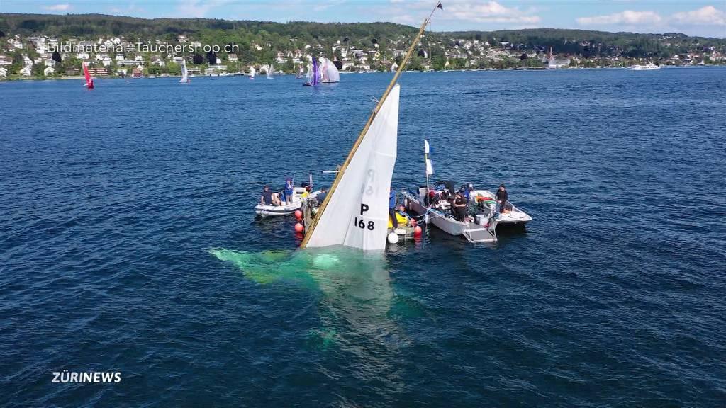 Spektakulär: Taucher bergen Schiffswrack aus Zürichsee
