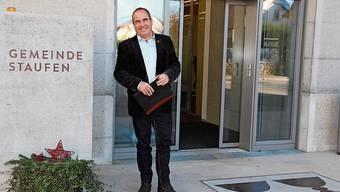 Otto Moser freut sich, dass Staufen ab morgen erstmals einen Grossratspräsidenten haben wird.