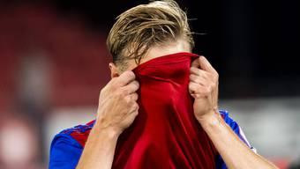 Der FC Basel, hier in Person von Jasper van der Werff, gibt im Moment ein Bild ab, das er lieber selber nicht sehen würde.