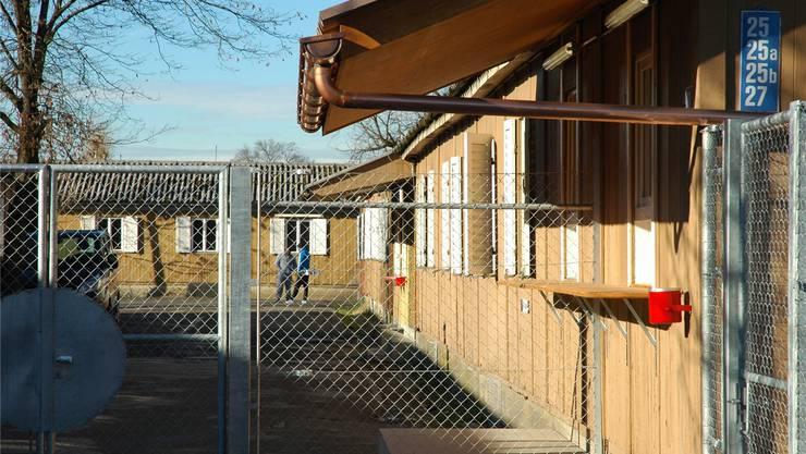 Barackensiedlung Juch: Hier werden bald 300 Asylsuchende untergebracht sein, an denen der Bund beschleunigte Asylverfahren testet.