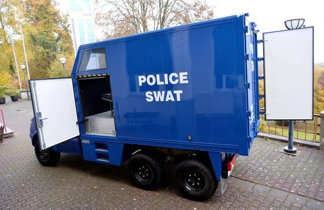 Das neue Schutzfahrzeug des Ostschweizer Polizeikonkordats wird von der Firma Carl Friederichs in Frankfurt gebaut und sieht ähnlich aus wie dieses Modell.