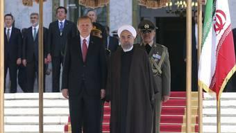 Der türkische Präsident Erdogan beim iranischen Präsidenten Ruhani