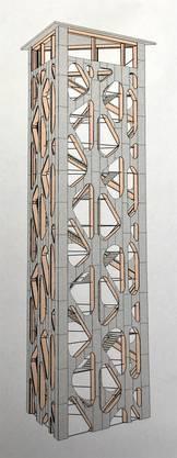 So soll er aussehen, der Aussichtsturm auf dem Hasenberg.Illustration: zvg