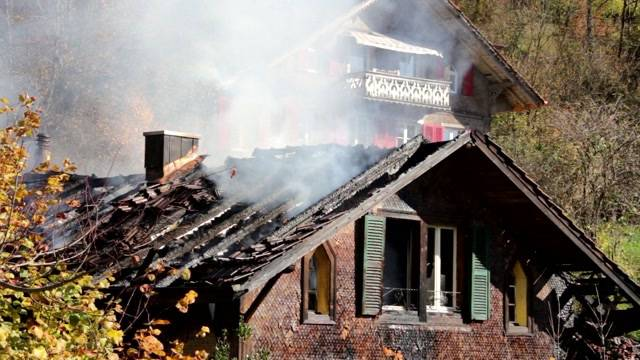 Grossbrand in Thun