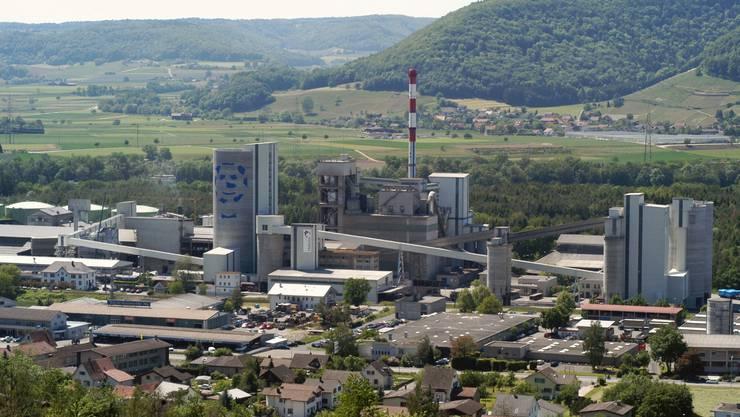 Das Holcim-Zementwerk in Siggenthal.