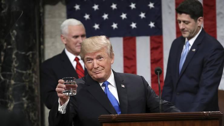 Trump bei seiner ersten Rede zur Lage der Nation.