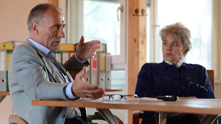 Christoph und Daniela Gaugler im Gespräch mit der bz. Das Foto wurde 2014 aufgenommen.