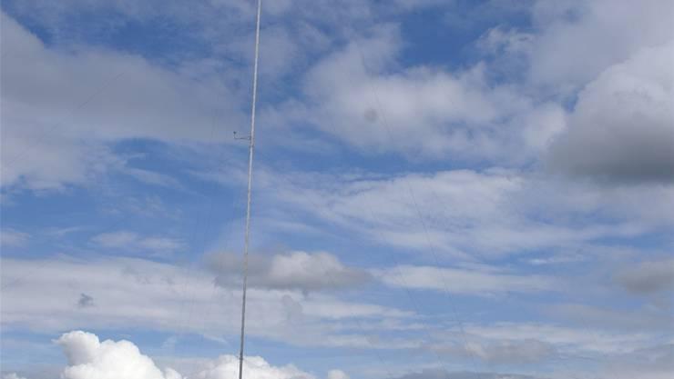 2007 und 2008 wurden in Zeiningen bereits Windmessungen gemacht – nun wurde der Standort in den Richtplan aufgenommen. archiv