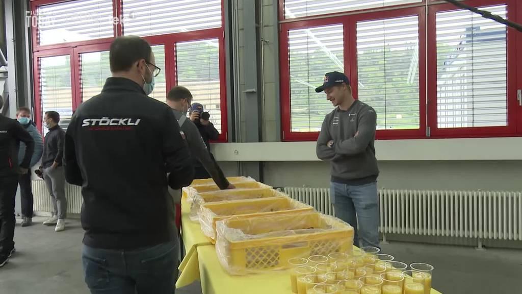 Marco Odermatt wird Gipfeli-Lieferant für Stöckli