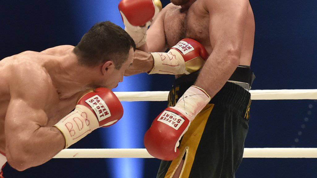 Tyson Fury (rechts) entthronte Wladimir Klitschko überraschend als Schwergewichts-Weltmeister