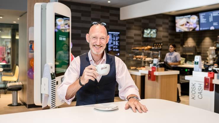 Restaurant-Chef Flemming Jensen ist besonders stolz auf den neuen McCafé.