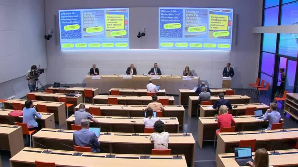 Komplette Pressekonferenz des Bundes vom 30. Juli 2020