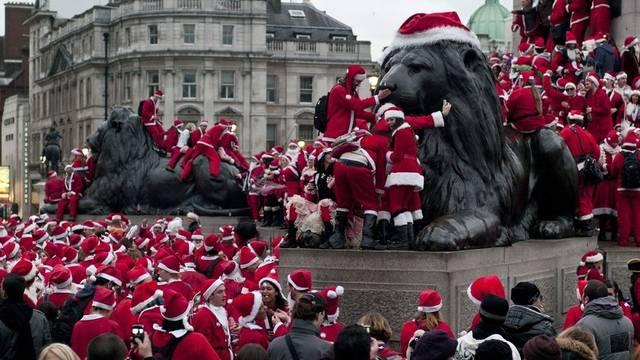 Es weihnachtet sehr auf dem Trafalgar-Square