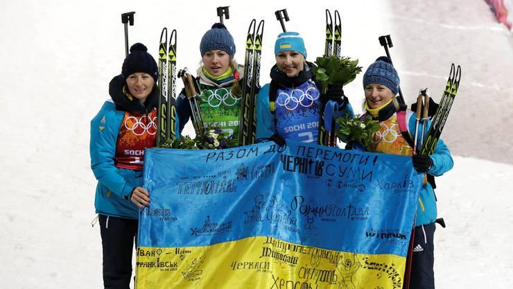 Das Siegerinnen-Quartett aus der Ukraine.