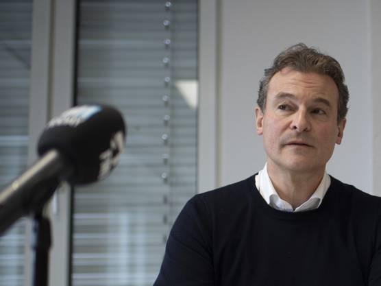 Jacques Hefti, Verwaltungsratspräsident der Fiorino Kinderbetreuung, zeigte sich an einer Medienkonferenz bestürzt über den mutmasslichen Missbrauchsfall in einer Kita in St. Gallen.