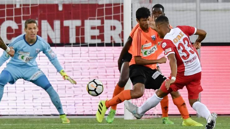 Marvin Spielmann erzielte das 3:2 gegen Lausanne-Sport und damit bereits seinen vierten Saisontreffer