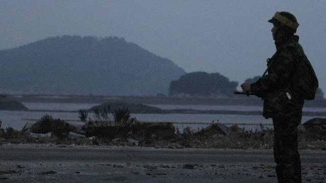 Südkoreanischer Soldat auf der Insel Yeonpyeong