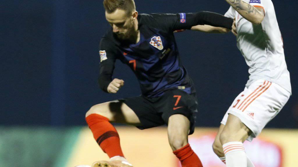 Ivan Rakitic (links) fehlt Kroatien am Sonntag gegen England
