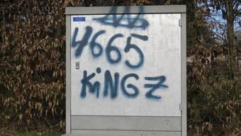 Versprayter Stromverteilerkasten (Kapo Aargau)