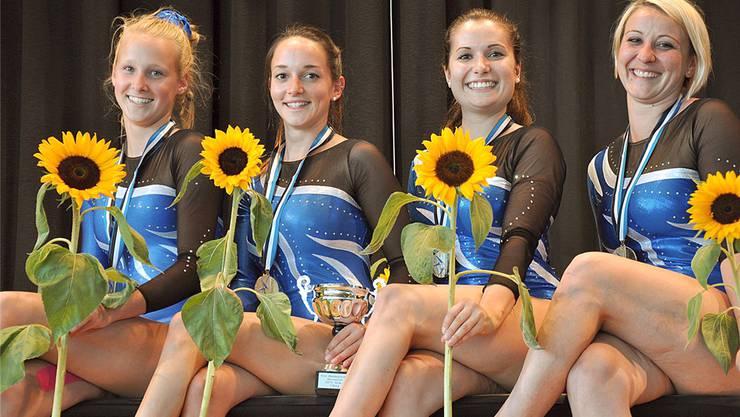 Die Uerknerinnen Deborah Meier, Alessandra Mancino, Lisa Schwammberger und Daniela Bolliger (von links) siegten in der höchsten Kategorie.dsc
