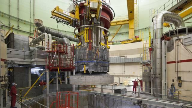 Renovationsarbeiten am Reaktorblock 2 des AKW Beznau. Am 16. Juni war eine geringfügige Leckage entdeckt worden.
