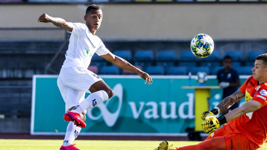 Dan Ndoye erzielt den zweiten Treffer für Lausanne