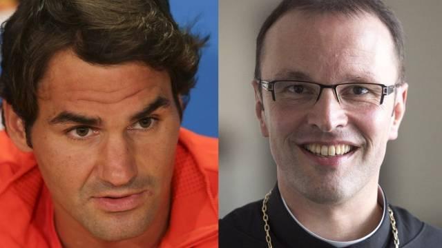 Entfernt miteinander verwandt: Roger und Abt Urban Federer (Archiv)