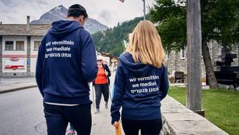 Kulturvermittler unterwegs im Wallis.