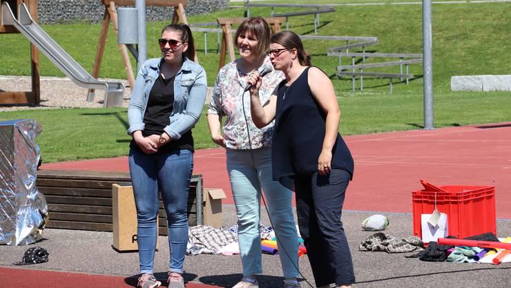 Sie gehen: (v.l.) Sanja Petrovic, Simone Allemann, Claudia Fahrni.