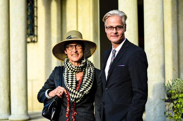 Doris Stäger-Meyer, Vizepräsidentin Stiftung Strohmuseum und Ruedi Nussbaumer, Kantonaler Denkmalpfleger