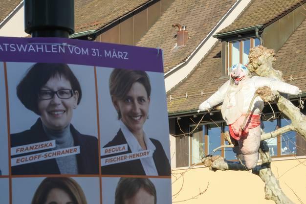 Hoffentlich stehen die beiden Damen während des Wahlkampfs nicht zu oft im Schatten.