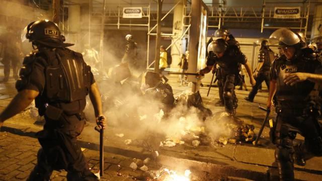 Auseinandersetzungen in Rio de Janeiro