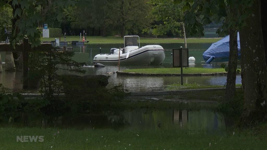 Höchste Gefahrenstufe: Thunersee überschreitet Hochwassergrenze