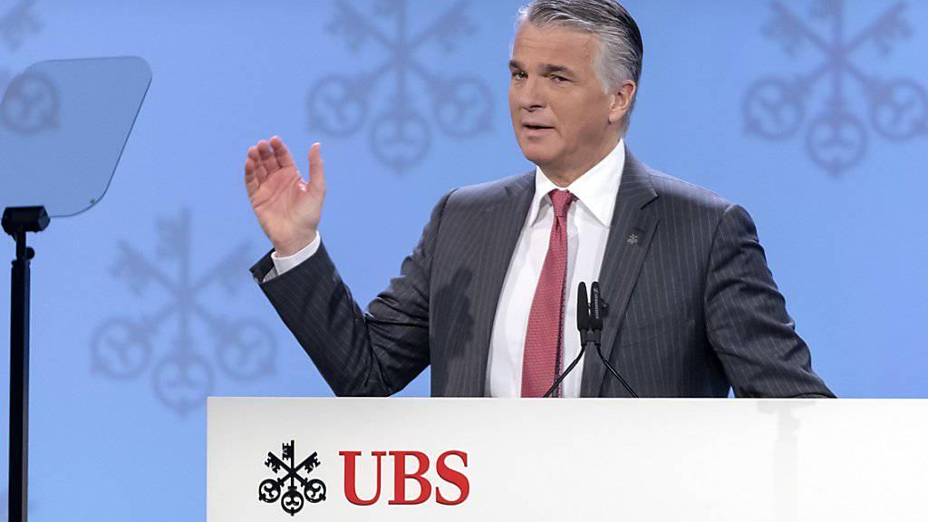 Warnt vor Risiken bei der Schweizerischen Nationalbank: UBS-CEO Sergio Ermotti. (Archivbild)